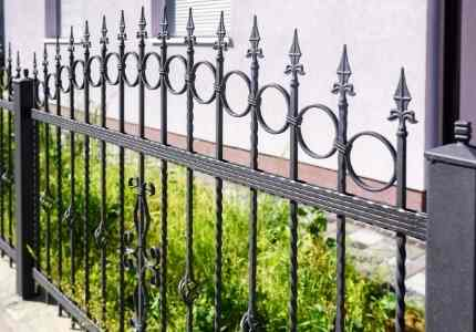 wrought iron fence install